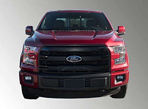 (Fits 15-17 FORD F-150 LARIAT - Gloss Black Grille Insert/Overlay)