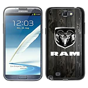 Dodge Ram Black Samsung Galaxy Note 2 N7100 Screen Phone Case Beautiful and Cool Design