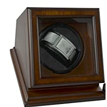 """Top Quality Automatic SingleBrown Wood Watch Winder Brand by Bombay Dimensions 5.75""""H x 7.25""""W x 6""""D"""