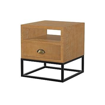 C T G Nachttisch Schrank Nachttisch Eisen Massivholz Nachttisch  Schlafzimmer Nachttisch ( Farbe : I 50*