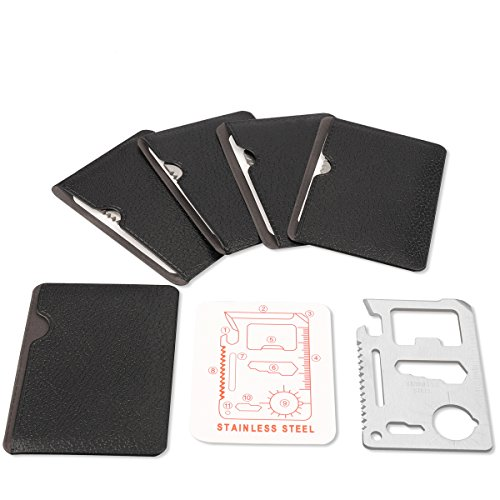 n 1 Beer Opener Survival Card Tool Fits Perfect in Your Wallet (5 pack) ()