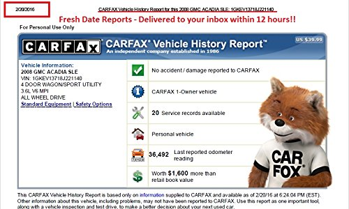 Carfax Vehicle History Report ()