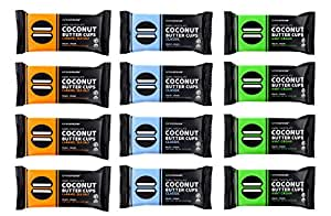 Eating Evolved - Organic Coconut Butter Cup Variety Pack, 1.5 Ounce each (12 Count)