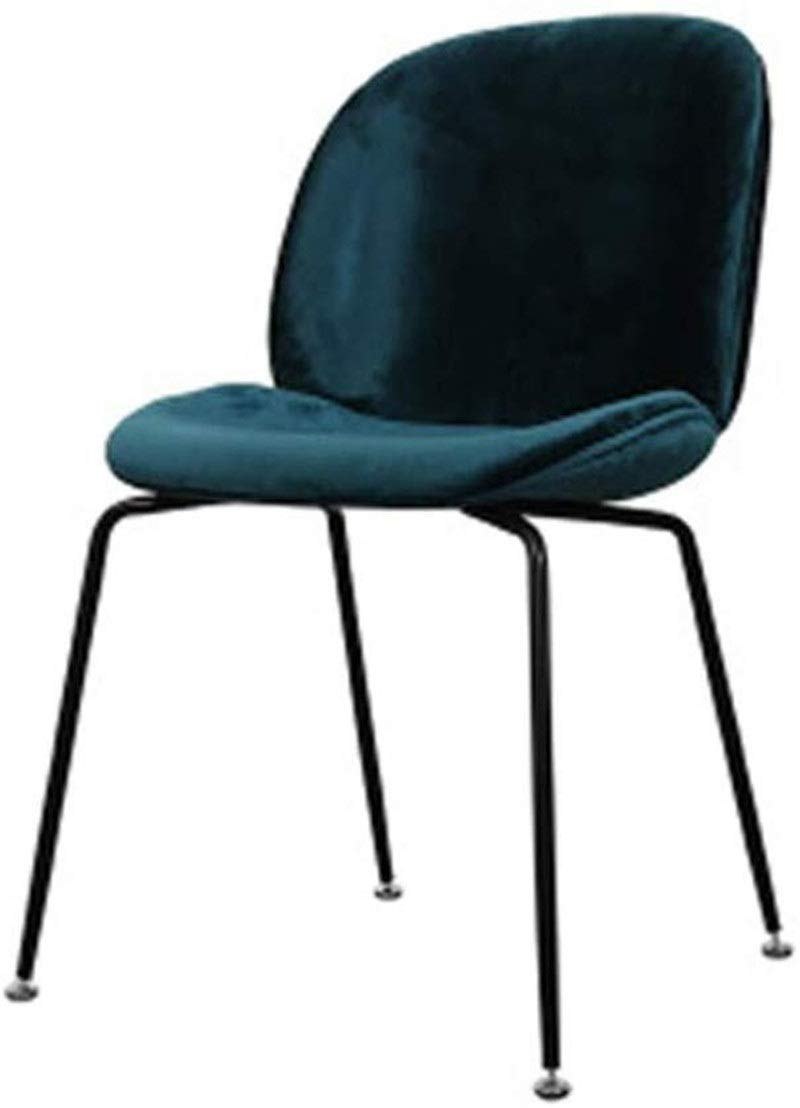 CHU N Dining Chairs Soft Seat Sturdy Metal Legs Dining Reception Office Chairs Living Chairs Kitchen Chairs 927 (Size : Dark Green) by CHU N