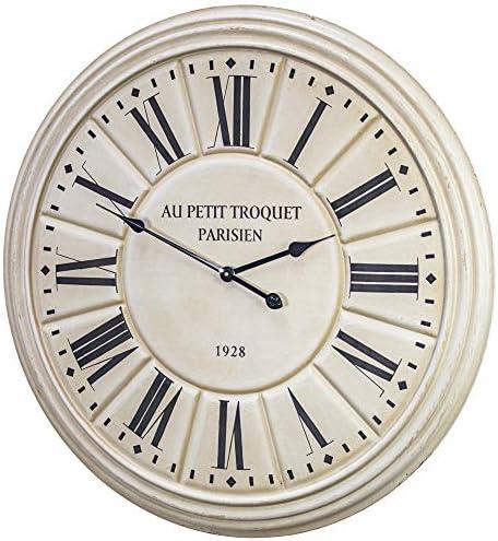 American Art Decor Au Petit Troquet Parisien 1928 Oversized Vintage Wood Wall Clock 31