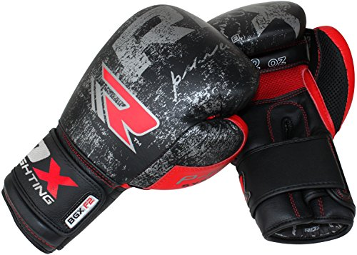 Authentic RDX Cow Hide Leather Boxing Gloves Fight Punch Bag Muay thai Grappling Pad MMA