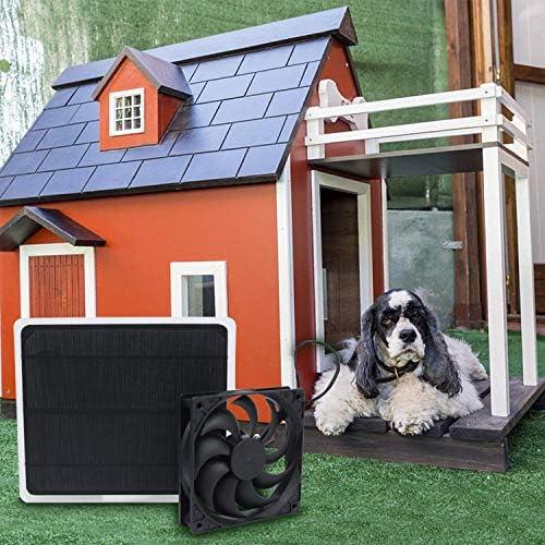 NN Mini-Solar-Panel-Kühlventilator, Kühlung, Für Gewächshaus, Zuhause, Büro, Outdoor, Reisen, Angeln, Hundehaus, Ventilator - Schwarz,Schwarz