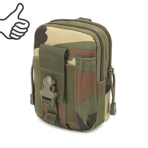 Multi-Purpose EDC Vape Pouch Bag, Vape Case,Tactical Bag Pouch, Military Nylon Utility Tactical Waist Pack Camping Hiking Pouch (Camo)