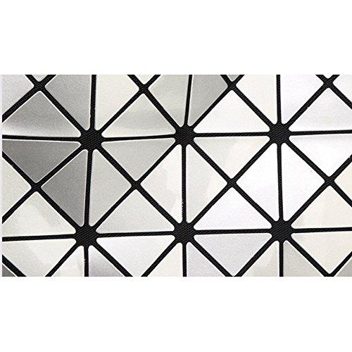HAOXIAOZI Bolsos Skyblue Plegable Variedad De Diamantes Cubo Bolsos Costura Rubik Hombro De Bolsas Geometra AIrwAfq