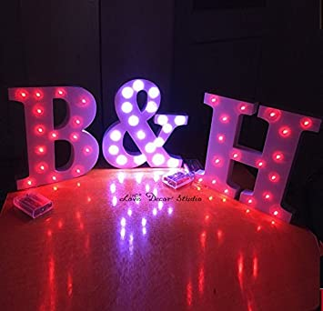 freestanding led white light up letters letter lights wedding letters marquee letters