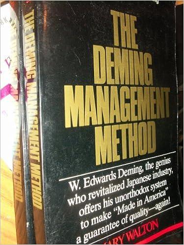 The Deming Management Method Pdf