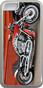 LJF phone case Rikki KnightTM Retro Harley Davidson Motorcycle Design Design iphone 6 4.7 inch Case Cover (Clear Rubber with bumper protection) for Apple iphone 6 4.7 inch