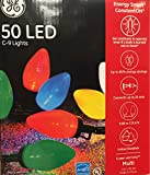 Sylvania Stay-Lit Platinum LED Indoor/Outdoor Christmas String Lights (Various Colors & Sizes) (50ct C9 lights, Multi-Colored)
