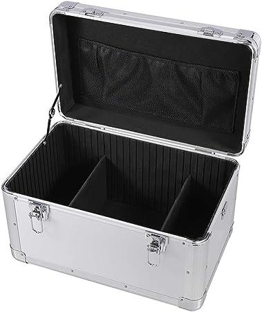 Caso cosmético Maleta Grande Capacidad Archivo Caja de Herramientas Organizador aleación de Aluminio Contraseña Caja Caja de Dinero portátil Flight Case de Aluminio: Amazon.es: Hogar