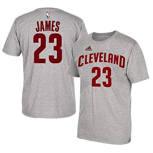 Lebron James Cleveland Cavaliers #23 Adidas Grey Name And Number Kids T Shirt (Kids 7) ()
