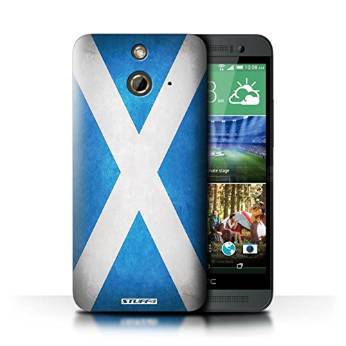 Coque de Stuff4 / Coque pour HTC One/1 E8 / Écosse/écossais Design / Drapeau Collection