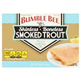 Bumble Bee Skinless Boneless Smoked Trout Filets in Canola Oil 3.8 OZ