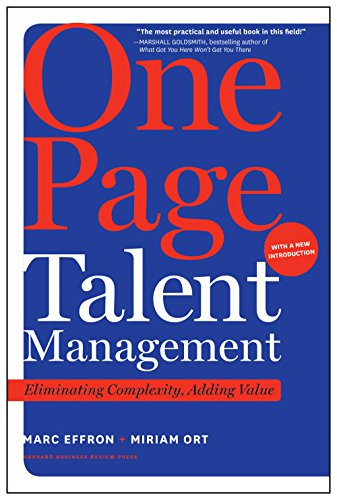 Amazon one page talent management with a new introduction one page talent management with a new introduction eliminating complexity adding value by fandeluxe Choice Image