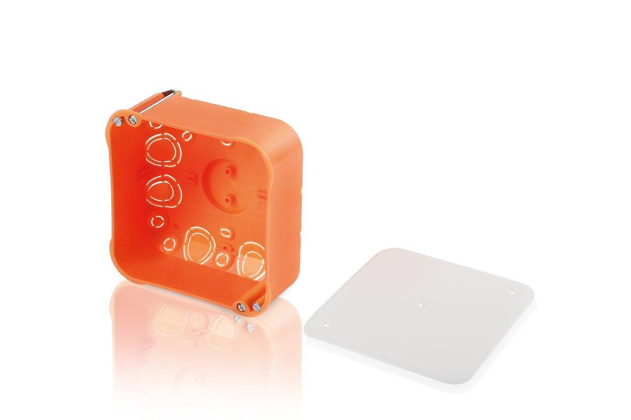 deep flush-mount orange 7464120 pack of 10 orange Meister cavity wall socket