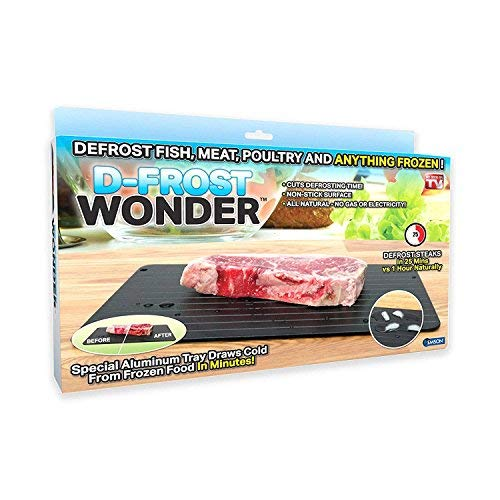 As Seen On TV 1082, Black Wonder Quick Defrosting Tray, Large