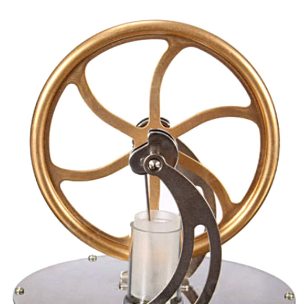 At27clekca Low Temperature Stirling Engine Model Steam Machine Science Educational Toy Electricity Generator by At27clekca (Image #7)