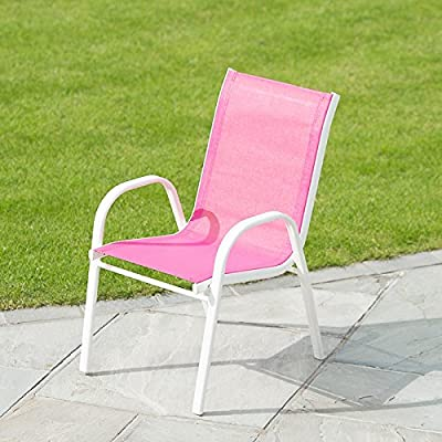 Scootrade Silla de jardín para niños, diseño de Barcelona, para uso en interiores y exteriores, color rosa: Amazon.es: Jardín