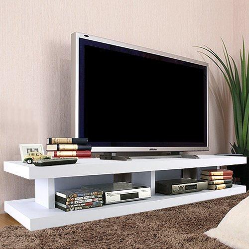 【完成品】テレビ台ワイドロータイプテレビボードオープンラック収納〔幅150cm〕ホワイト