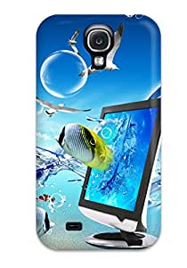 First-class Case Cover For Galaxy S4 Dual Protection Cover Fantasy Desktop