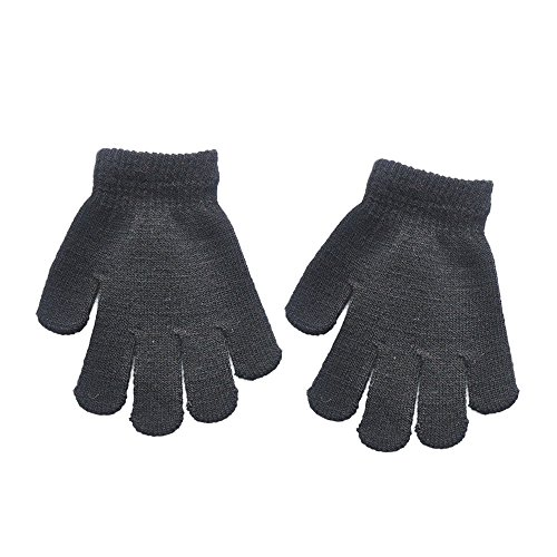 Lanhui Infant Baby Cute Solid Print Hot Girls Boys of Winter Warm Pure Color Gloves (12year, Black)