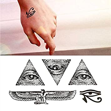 Oottati Pequeño Lindo Tatuaje Temporal Dios Ojo Horus Egipto(2 ...