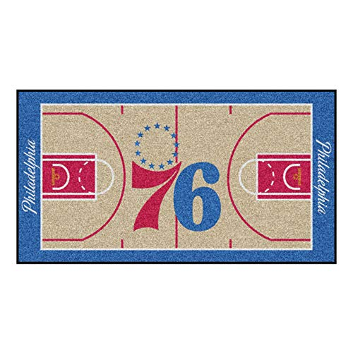 FANMATS NBA Philadelphia 76ers Nylon Face NBA Court Runner-Small