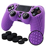Pandaren STUDDED Anti-slip Silicone Cover Skin Set for Sony Playstation 4/PS4/PS4 Slim/PS4 Pro Controllers(Purple controller skin x 1 + FPS PRO Thumb Grips x 8) Review