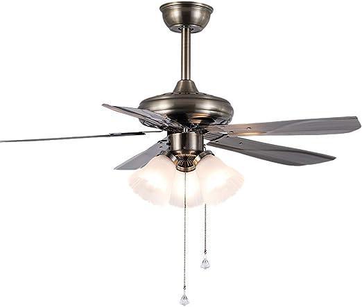 XAJGW American Retro Ventilador de Techo Luz Moderna Minimalista Ventilador de Techo Comedor Sala de Estar Fan Chandelier E27 Fan Light - 42 Pulgadas con Control Remoto (Size : Remote Control): Amazon.es: Hogar