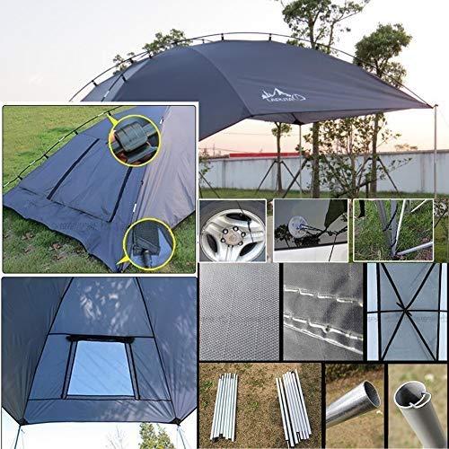 EGECL Car Tent - Folding Sunshade Carports - Anti-UV Roof Top Tent - Car Sun Shelter Awning - Hiking, Climbing, Fishing by EGECL (Image #6)