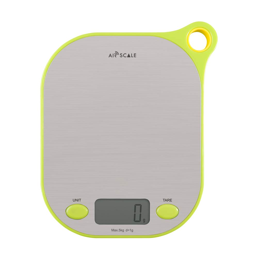 Airscale Precision Multifunction Digital Food Kitchen Scale, 5 Units LCD Display Scale in g, oz, lb:oz, ml and ml(Milk), Max 11lbs/5kg Precise Scale for Cooking and Baking, 304 Stainless Steel