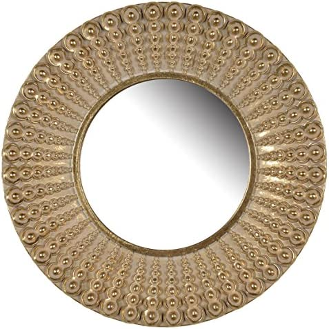 A B Home Aubrey 14″ Round Wall Mirror