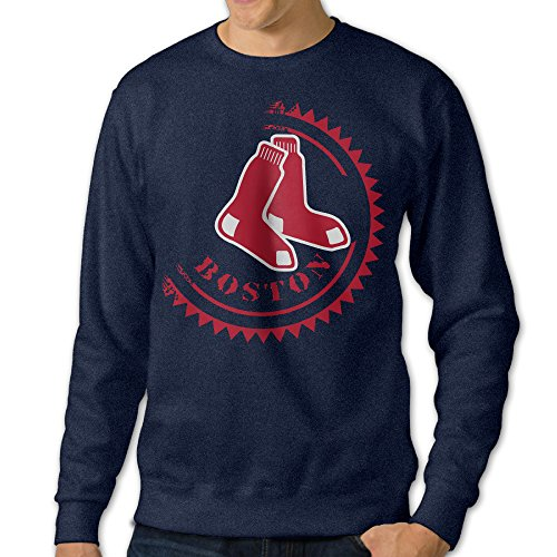 NUBIA Men's Red Sox Long Sleeve Hood Navy M (Holland Costume City)