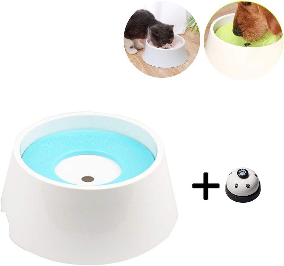 Taz/ón Flotante para Mascotas Pejoye Taz/ón de Agua con Disco Flotante sin Salpicaduras Material Antibacteriano Taz/ón para Mascotas Desmontable Dispensador de Bebederos 1000ml