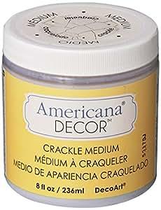 DecoArt Crackle Medium, 8-Ounce, Clear