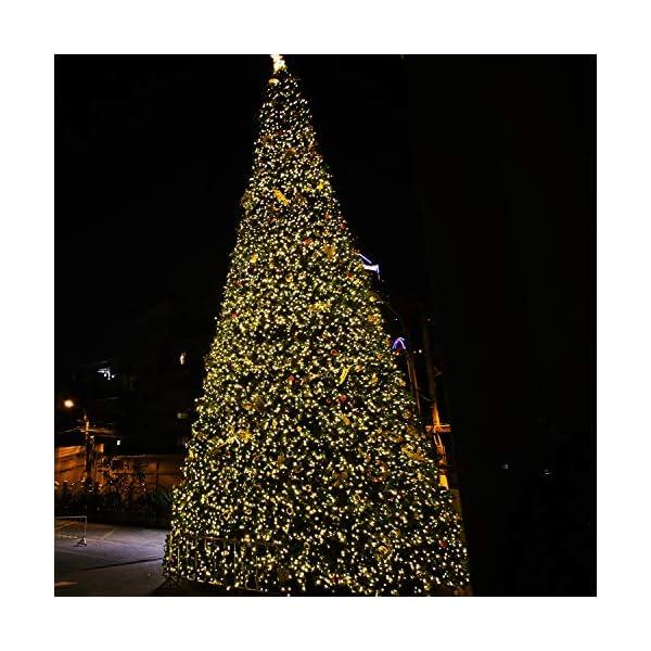ANSIO Luci natalizie Luci natalizie esterne 1000 LED 10 m bianco caldo interno Catena luminosa interna Funzione memoria albero di Natale, alimentazione elettrica Lunghezza illuminata 50 m - Cavo verde 5 spesavip