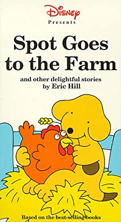 Amazon Com Spot Goes To The Farm Vhs Adventures With Spot Movies Tv