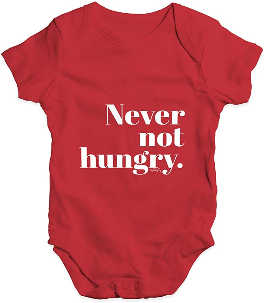 TWISTED ENVY Funny Infant Baby Bodysuit Never Not Hungry