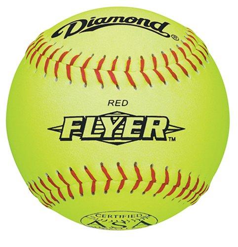 Diamond 12RYSC .44 COR 375 ASA 12-Inch Synthetic Leather Softball (Pack of 12)