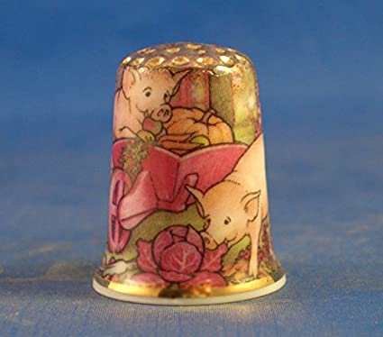 Franklin Roosevelt 32nd President USA Porcelain China Collectable Thimble Free Gift Box