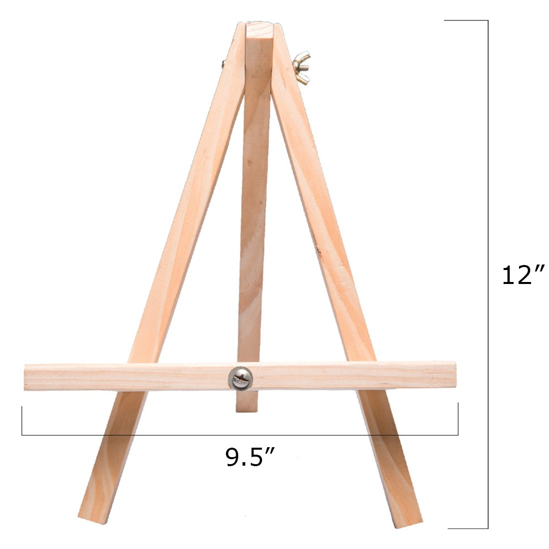 Tosnail 12'' Tall Natural Wood Tripod Easel Photo Painting Display - 5 Pack by Tosnail (Image #1)