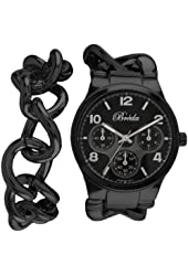 Breda Women's 7224-black .BR Penelope Oversized Chain Band Set Watch