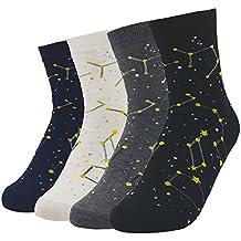 JJMax Womens Cotton Blend Socks Star Raglan Short Crew One Size Fits All