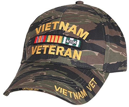 Vietnam Veteran Low Profile Tiger Stripe Camo Ball Cap