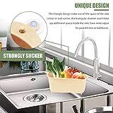 Sink Basket, Triangular Multifunctional Drain Shelf Sink Storage Rack Kitchen Sucker Storage Holder Bathroom Support Corner Hanging Sink filter Shelf Soap Box