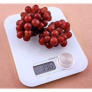 High Precision Digital Kitchen Food Scale | Electric Scales for Baking, Cooking, Dieting | Chef, Baker, Food Prep Electronic Measuring Scale for Weighing Foods | Measures Grams, Ounces, Milliliters